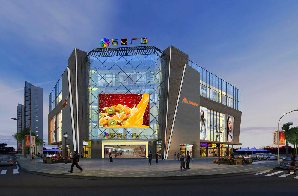 Building appearance LED display solution
